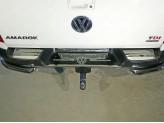 Накладки на задний бампер (лист зеркальный логотип Volkswagen), полир. нерж. сталь для мод. с 2017 г.