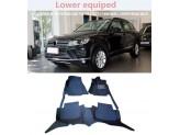 """""""Кожаные"""" коврики для Volkswagen Touareg в салон, цвет черный"""