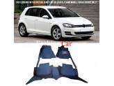 """""""Кожаные"""" коврики для Volkswagen Golf в салон, цвет черный"""