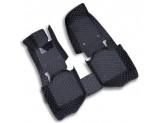 """""""Кожаные"""" коврики для Mitsubishi Pajero в салон, цвет черный"""