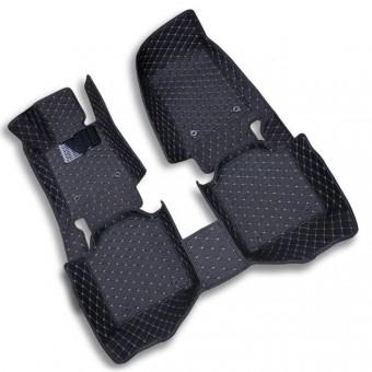 """""""Кожаные"""" коврики для Acura MDX в салон, цвет черный"""