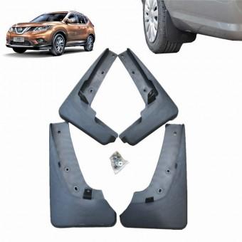Комплект брызговиков WINBO на Nissan X-Trail T31 (пластик ABS, устанавливаются в штатные точки без сверления элементов кузова)