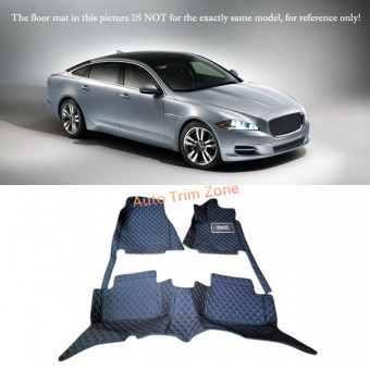 """""""Кожаные"""" коврики для Jaguar XJ в салон, цвет черный"""