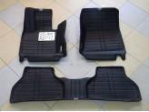 """""""Кожаные"""" коврики из высокосортного полиуретана для BMW X5 в салон, цвет черный, изображение 3"""