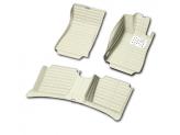 """""""Кожаные"""" коврики из высокосортного полиуретана для Audi Q5 в салон, цвет бежевый"""