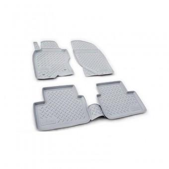 Коврики NORPLAST резиновые (полиуретан) для Volkswagen Touareg, цвет серый