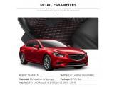 """""""Кожаные"""" коврики для Mazda 6 в салон, цвет черный"""