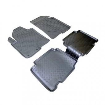 Коврики NORPLAST резиновые (полиуретан) для Hyundai iX 55/Veracruz, цвет черный