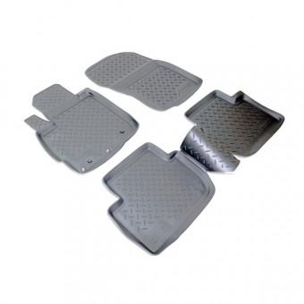 Коврики NORPLAST резиновые (полиуретан) для Mitsubishi Outlander XL, цвет черный