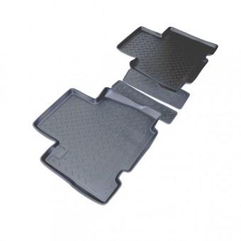 Коврики NORPLAST резиновые (полиуретан) задние для Toyota RAV4 (цвет черный, длинная база)