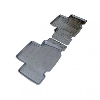 Коврики NORPLAST резиновые (полиуретан) задние для Toyota RAV4, цвет черный
