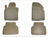 Коврики NORPLAST резиновые для Volkswagen Touareg, цвет бежевый