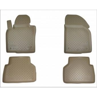 Коврики NORPLAST резиновые (полиуретан) для Volkswagen Touareg, цвет бежевый