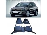 """""""Кожаные"""" коврики для Volkswagen Tiguan в салон, цвет черный"""