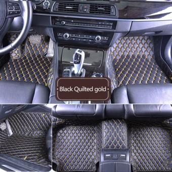 """""""Кожаные"""" коврики из высокосортного полиуретана для Hummer H2 в салон, цвет черный"""