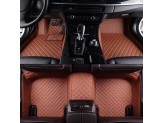 """""""Кожаные"""" коврики из высокосортного полиуретана для Toyota Landcruiser 200 в салон, цвет черный (для мод. с 2012 г.), изображение 9"""