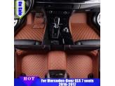 """""""Кожаные"""" коврики из высокосортного полиуретана для Hummer H2 в салон, цвет черный, изображение 7"""