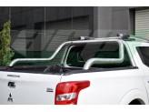 """Защитная дуга для Fiat Fullback """"ABEN"""" в кузов пикапа 76 мм полированная, нержавеющая сталь"""