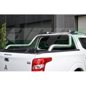 """Защитная дуга для Fiat Fullback """"ABEN"""" в кузов пикапа 76 мм полированная, нержавеющая сталь (толщина стенки метала 1,5 мм)"""