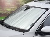 Солнцезащитный экран на лобовое стекло Dodge Durango, цвет серебристый/черный