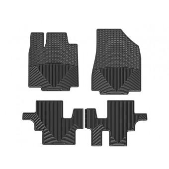 Коврики WEATHERTECH для Infiniti JX (QX60) резиновые, цвет черный 1-ый и 2-ой ряд (доступны к заказу коричневые, бежевые и серые)