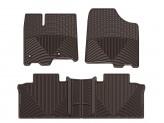 Коврики WEATHERTECH для Toyota Sienna, резиновые, цвет коричневый