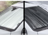 Солнцезащитный экран на лобовое стекло Nissan X-Trail T32, цвет серебристый/черный, изображение 3