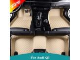 """""""Кожаные"""" коврики для Audi Q5 в салон, цвет черный, изображение 4"""