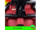 """""""Кожаные"""" коврики для Audi Q5 в салон, цвет черный, изображение 6"""