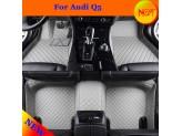 """""""Кожаные"""" коврики для Audi Q5 в салон, цвет черный, изображение 7"""