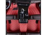 """""""Кожаные"""" коврики из высокосортного полиуретана для Toyota Landcruiser 200 в салон, цвет черный (для мод. с 2012 г.), изображение 5"""
