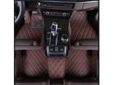 """""""Кожаные"""" коврики из высокосортного полиуретана для Volkswagen Touareg в салон, цвет черный, изображение 4"""