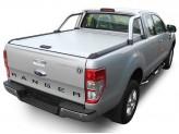 """Крышка Mountain Top для Ford Ranger T6 """"TOP ROLL"""" с защитной дугой, цвет серебристый"""