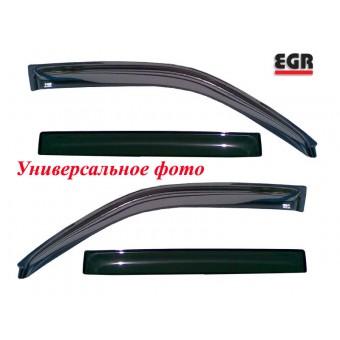 Дефлекторы боковых окон EGR для Ssang Yong Kyron, 4 части,темные.