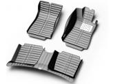 """""""Кожаные"""" коврики в салон, цвет черный, для кузова J32"""