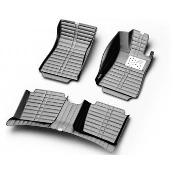 """""""Кожаные"""" коврики (высокосортный полиуретан) в салон, цвет черный (комплект на 3 ряда), кузов R52"""
