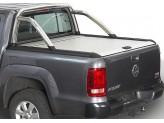 """Крышка Mountain Top для Volkswagen Amarok """"TOP ROLL"""", цвет серебристый c защитной дугой"""
