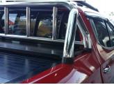 """Крышка для Mitsubishi L200 """"ROLL-ON"""" цвет черный с дугой CR003 (электростатическая покраска), изображение 2"""