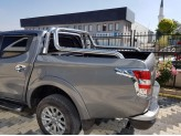 """Крышка для Mitsubishi L200 """"ROLL-ON"""" цвет черный с дугой CROO6 (электростатическая покраска), изображение 3"""
