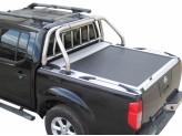 """Крышка TESSER для Nissan Navara D 40 серия """"SOT-ROLL"""" с дугой 63 мм в комплекте с защитой заднего стекла"""