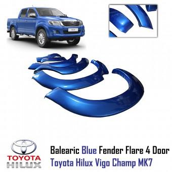Расширители колесных арок для Toyota HiLux из 6-ти частей для Double Cab, цвет серый (для мод. с 2012 г.)
