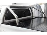 """Крышка для Toyota HiLux """"ROLL-ON"""" цвет черный с дугой CR002"""