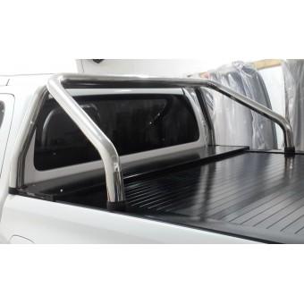 """Крышка для Toyota HiLux """"ROLL-ON"""" цвет черный с дугой CR002 (электростатическая покраска)"""