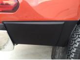 Комплект боковых накладок для Toyota HiLux (Revo) из 6 частей (цвет черный, пластик ABS), изображение 5