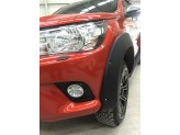 Расширители колесных арок для Toyota HiLux (пластик ABS) с хромированными болтами, изображение 5