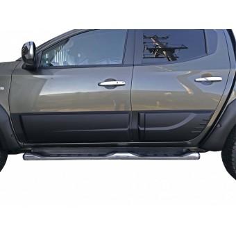 Комплект боковых накладок для Fiat Fullback (цвет черный, пластик ABS)