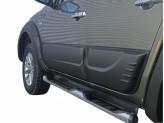 Комплект боковых накладок для Mitsubishi L200 (цвет черный, пластик ABS), изображение 2