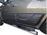 Комплект боковых накладок для Mitsubishi L200 (цвет черный, пластик ABS), изображение 3
