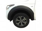 Расширители колесных арок для Fiat Fullback  (пластик ABS) с хромированными болтами, изображение 3