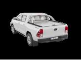 """Крышка на Toyota HiLux """"TOP ROLL"""" цвет серебристый, с защитной дугой со стоп-сигналом"""